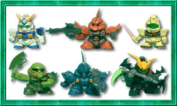 Gashapon SD Gundam Part 21 Deathscythe NT-1 Kampfer GM
