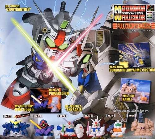 Gashapon SD Gundam 0083 Part 22 GP-01 GP-02 GM Xamel Dom Wing Heavy Arms Custom