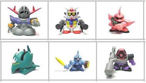 Gashapon SD Gundam Part 4 Zeong Gelgoog Larar's Mobile Armor Gann Dom SET