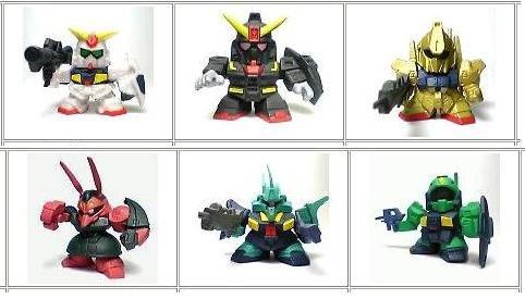 Gashapon SD Gundam Part 7 Z Zeta MK-II Hyakushiki Nemo Psyco Dijeh Bound Dog SET