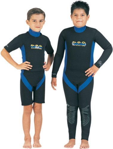 TILOS KIDS 3/2MM ADVENTURE FULLSUIT;SIZE 12 BLACK/BLUE