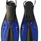 2011 TILOS GETAWAY TRAVEL SNORKELING & SWIM FINS; BLUE