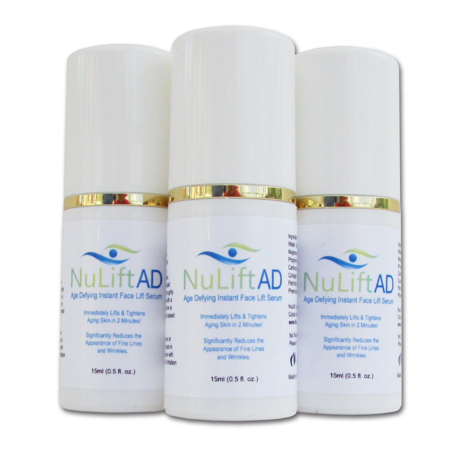 NuLift AD Instant Face Lift Serum - 3 Month Supply