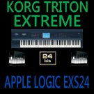 KORG TRITON EXTREME -EXS24 logic apple 12DVD 65GB 24BIT