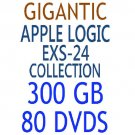 GIGANTIC APPLE LOGIC EXS-24 COLLECTION 300 GB 80 Dvds