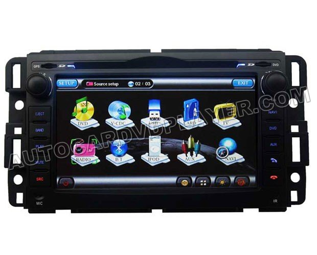 """7"""" Touchscreen DVD GPS Navigation Player with Bluetooth iPod for 2007-2010 Chevrolet Tahoe"""