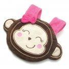 Baby Infant Bib - Girl Monkey by BabySafe