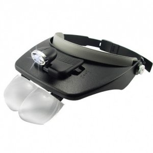 GCM Head Visor Magnifying Glasses with LED Spot Light
