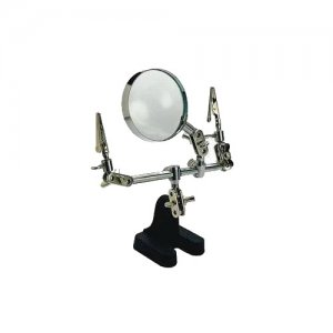 3x, 60mm Helping Hand Desk Magnifying Glass w/ Soldering Work Station