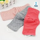 Cotton Anti-Dust Face Mask for Protection from Dust and Pollution - Fashion Dotted Style (2 Pieces)