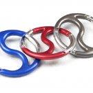 Sunroad Metal Carabiners / Keychain Hooks - Yin Yang Shape (15 Piece Bulk Pack)