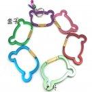 Sunroad Metal Carabiners / Keychain Hooks - Panda Shape (15 Piece Bulk Pack)