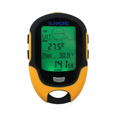 Multifunction Digital Altimeter Barometer Compass for Outdoor Sports (Sunroad Model FR-500)