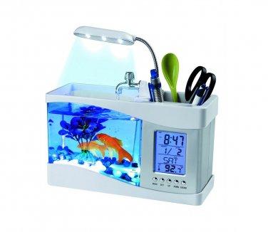 Global Care Market USB Desktop Aquarium - Complete Gift Set (White)