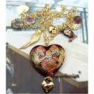 Charm Retro Copper Cloisonne Necklace Pendant Vintage Style