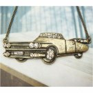 Swarovski Crystal Retro Copper Old Car Necklace Pendant Vintage Style