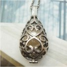 Silver Plated Egg Nest Necklace Pendant Vintage Style