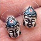 Elegant Silver Plated Buddha Head design Ear Stud Earrings