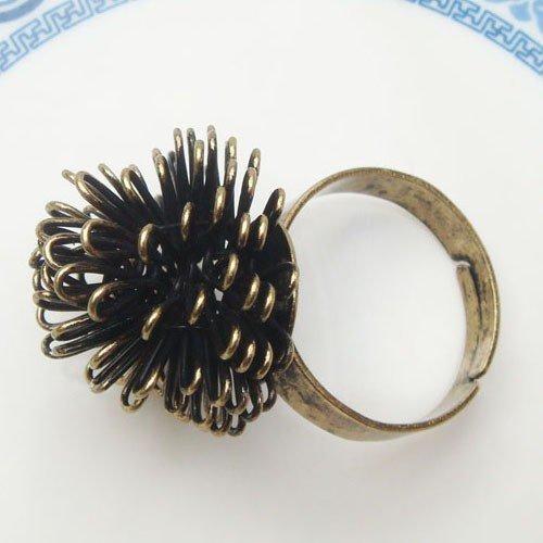 Adjustable Size Antique Brass Hazel Ring