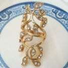 Size 6.3 Antique Brass Leaf Ring