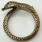 Size 6.7 Antique Brass Snake Ring