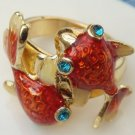 Size 6.0 Antique Brass Goldfish Ring