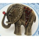Stretchable Size Antique Brass Elephant Ring