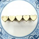 Size 8.1 and 8.7 Antique Brass Heart 2-finger Ring