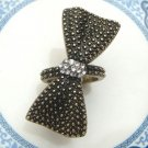 Size 5.8 Antique Brass Bow-tie Ring