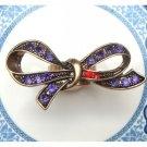 Size 5.5 Antique Brass Bowtie Ring