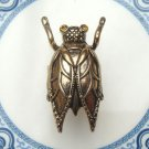 Adjustable Size 6.5-7.5 Antique Brass Cicada Ring