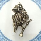 Size 7.0 Antique Brass Owl Ring