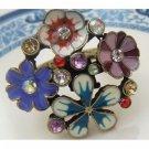 Size 5.5 Antique Brass Flower Ring
