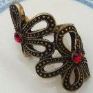 Size 6.5 Antique Brass Flower Ring