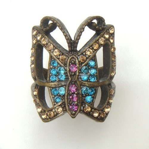 Size 7.0 Antique Brass Butterfly Ring