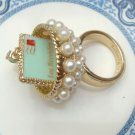 Size 6.6 Antique Brass e-Mail Ring
