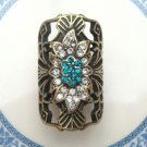 Size 5.5 Antique Brass Flower Ring