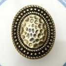 Size 6.0 Antique Brass Oval Ring