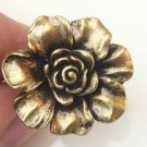 Size 7.5 Antique Brass Flower Ring