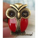 Sizse 6.4 Retro Brass Crystal Owl design Ring