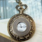 Retro Brass animal sign of the zodiac Pocket Watch Pendant Necklace
