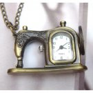 Retro Brass Sartorius Pocket Watch Pendant Necklace