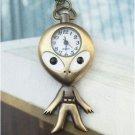 Retro Copper Otman Pocket Watch Necklace Pendant Vintage Style
