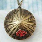 Retro Brass Hat Pocket Watch Locket Pendant Necklace Vintage Style