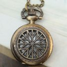 Large Retro Brass Fillagree Locket Pocket Watch Pendant Necklace