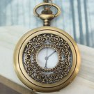 Large Retro Brass Fillagree Locket Pocket Watch Pendant Necklace