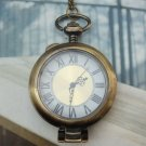 Large Retro Brass Locket Pocket Watch Pendant Necklace