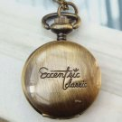 Retro Brass Locket Pocket Watch Pendant Necklace