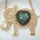 Steampunk Original Design Elephant Heart Vinatge Style Necklace