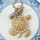 Steampunk Original Design Swallow Turtle Vinatge Style Necklace